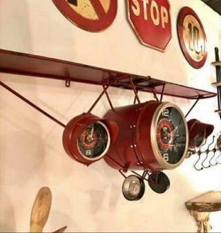Reloj Avión Estantería metálica