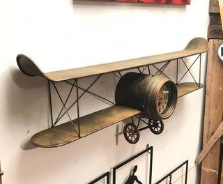 Reloj Avión Estantería Perchero