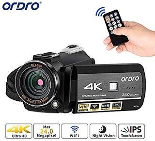 Videocámara ORDRO 4K Ultra HD con Grabación