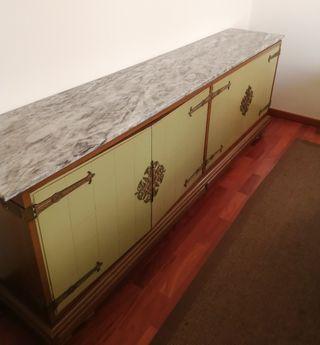 URGENTE Aparador antiguo de madera/mármol