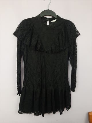 vestido volantes zara