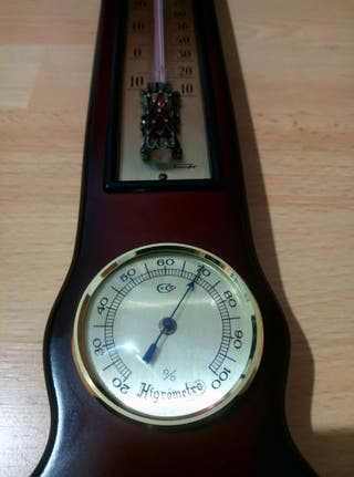 reloj higrometro barómetro termometro antiguo