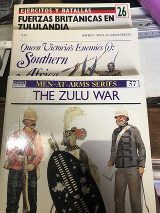 Tres libros sobre las guerras zulúes