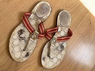 GUCCI sandalias zapatillas de mujer 38.5