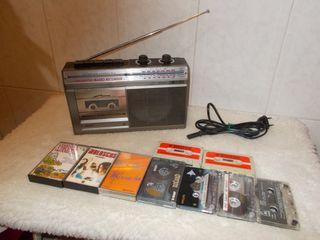Radio Cassette PHILIPS 1978 Retro Vintage Funciona