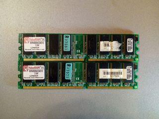 Kit 1gb 2X DDR400 256mb kingston