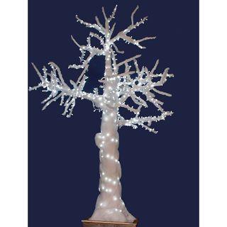 Árbol guata blanco con luz led sin macetero r8042