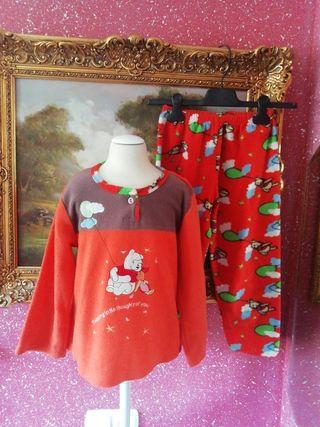 Pijama talla 8 años niño niña naranja bata