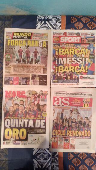 Periódicos Barça Copa Europa 2015