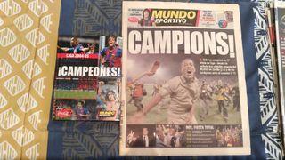 Periódico Mundo Deportivo liga Barça 04/05