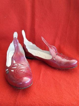Bailarinas charol color frambuesa