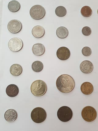 Monedas antiguas de varios países