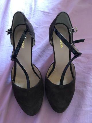 Zapatos fosco usados 2 veces