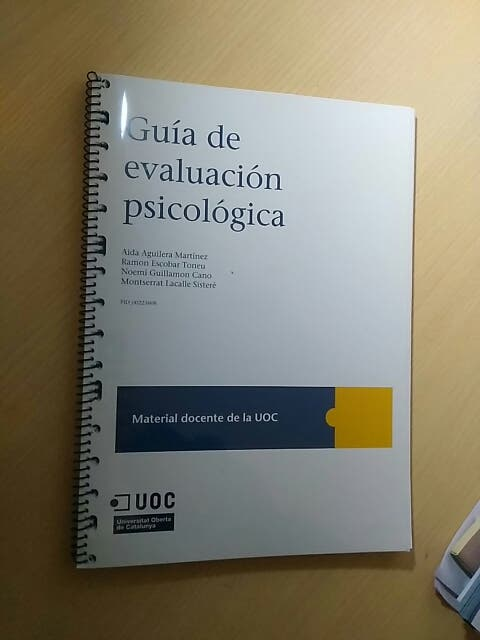 guía evaluación psicológica
