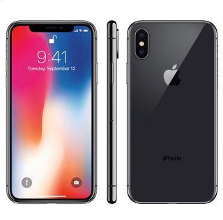 Iphone X 256 GB grey.