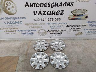 "Juego tapacubos ""15 Peugeot 207"