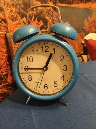 ( 129 )Reloj de sobremesa grande color azul