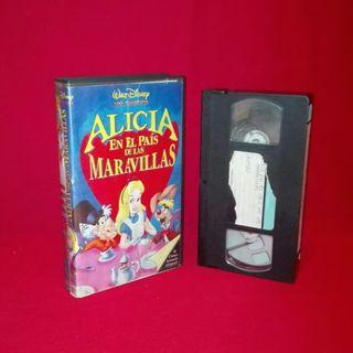 Película VHS Alicia en el País de las Maravillas y