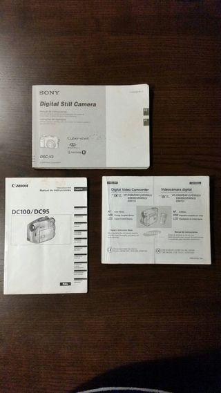 Pack 3 Manuales originales Videocamaras