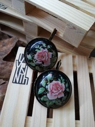pendientes flores vintage