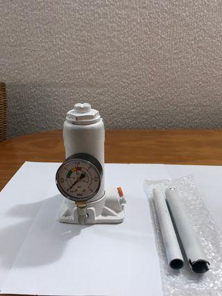 Gato hidráulico de botella con Manómetro 2T