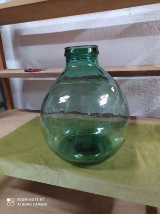 Botella cristal boca ancha.