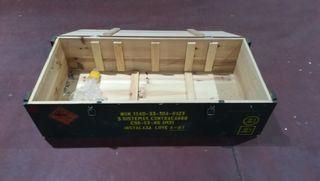 baul, cajon de madera militar de 115x52x32 cms .
