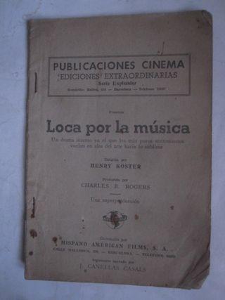 loca por la música publicaciones cinema Koster