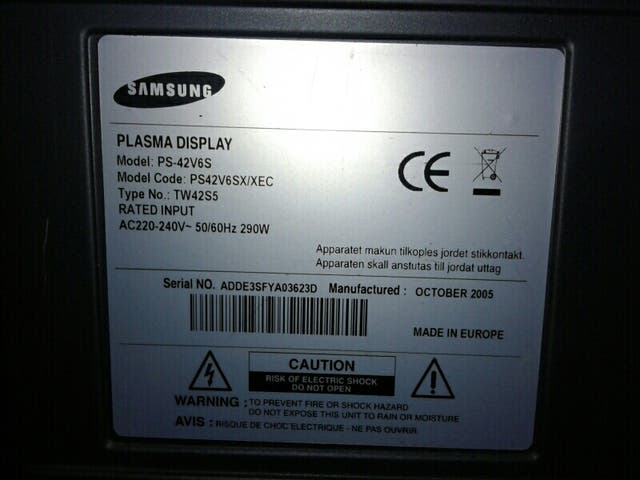 TV plasma Samsung 43'' regalo TDT