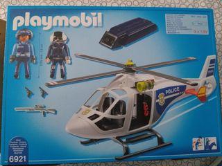 Helicóptero de Policía con Luces LED de Playmobil