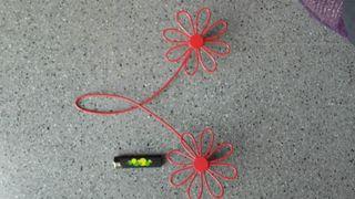 Perchas flores, elemento decorativo