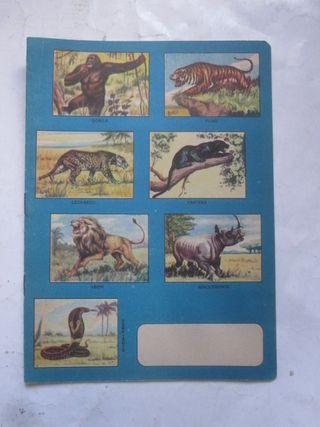 cuaderno El Reino animal nº 3 año 1960 animales