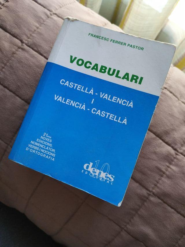 vocabulario valenciano - castellano