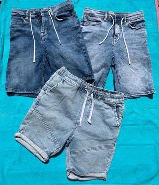 Pantalones tejanos cortos chico. Talla 36