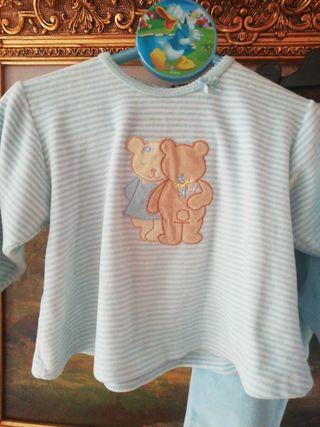 Pijama talla 18 meses 1 año y medio niña osito