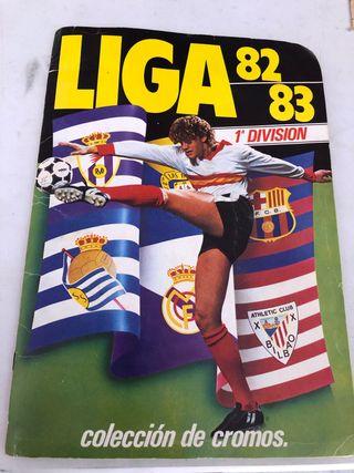 Álbum de cromos de fútbol liga 82-83