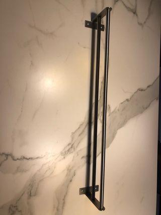 Toallero de acero inoxidable de 80cm x 13 cm