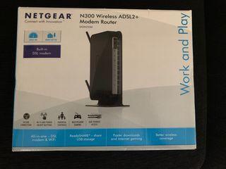 ADSL2+ Modem Router inalámbrico Netgear N300