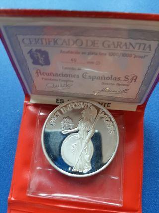 moneda conmemorativa franco