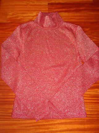 Jersey rojo con brillo