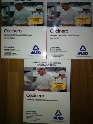 libros oposicion cocinero cyl