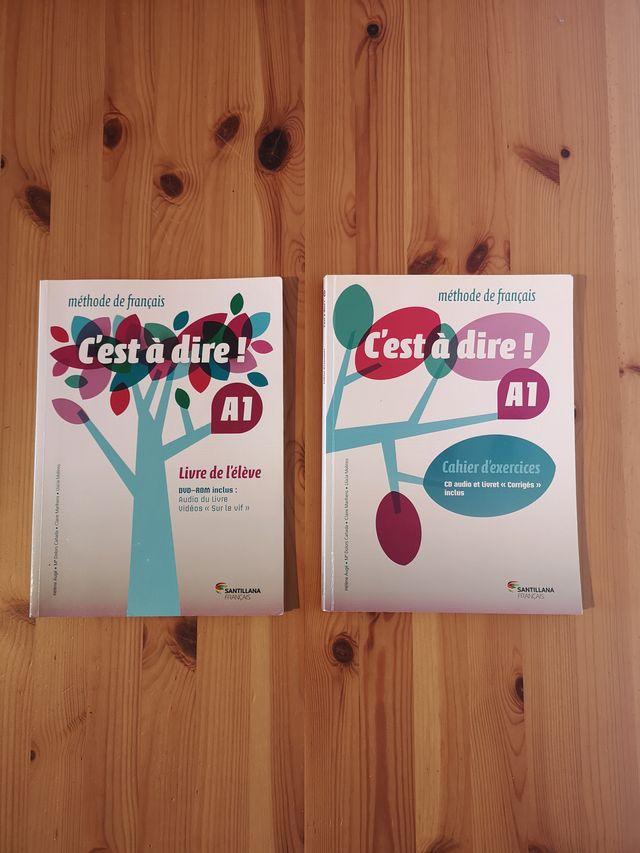 """Pack livres """"C'est a dire A1"""" - élève et exercices"""