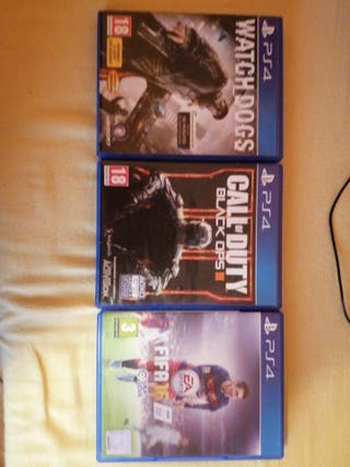 Fifa 16 Cod Black Ops 3 y watch dogs ps4