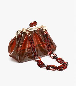 Bolso vinilo marrón Zara