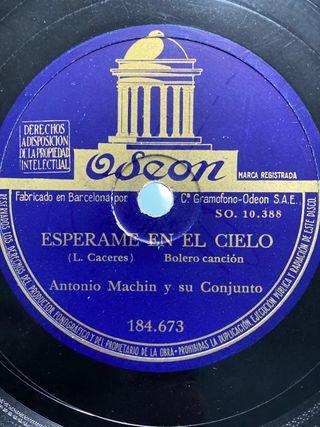 Disco de pizarra Antonio Machín