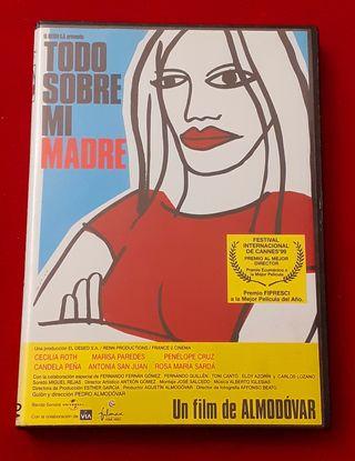 """DVD """"TODO SOBRE MI MADRE"""" Pedro Almodóvar"""
