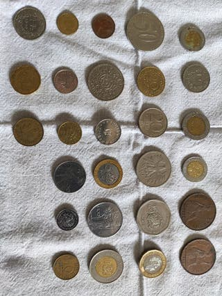 colección de monedas antiguas extranjeras