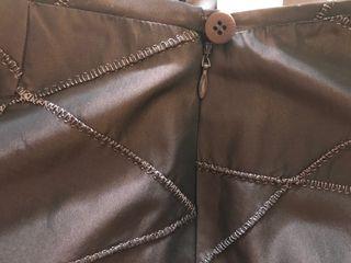 Falda de seda marrón de Trucco