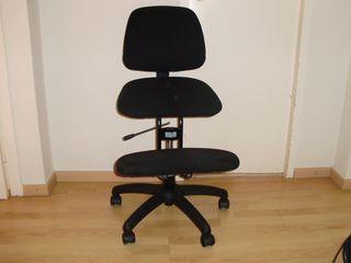 sillón ergonómico de escritorio sin brazos
