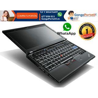 Portátil Lenovo X220, 8Gb/i7/Cam/SSD/Win10 Gratis